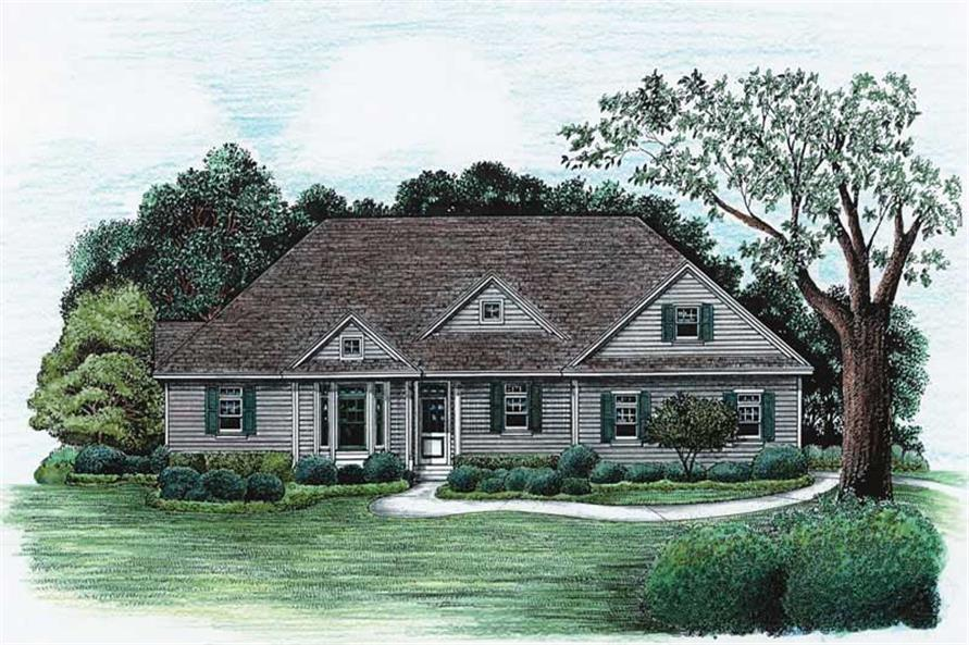 3-Bedroom, 1876 Sq Ft Ranch House Plan - 120-2031 - Front Exterior