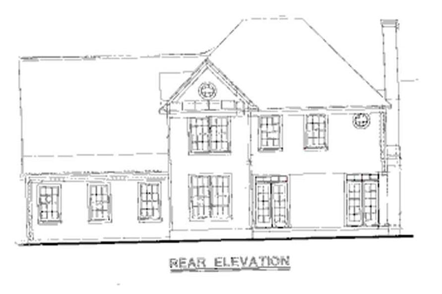 Home Plan Rear Elevation of this 4-Bedroom,2688 Sq Ft Plan -120-2037