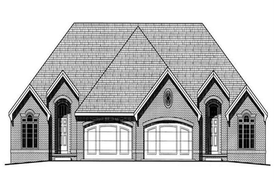 3-Bedroom, 1478 Sq Ft Multi-Unit Home Plan - 120-2039 - Main Exterior