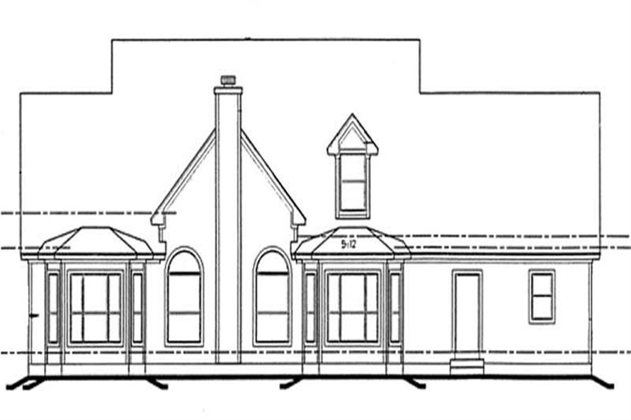 Home Plan Rear Elevation of this 4-Bedroom,3072 Sq Ft Plan -120-2041