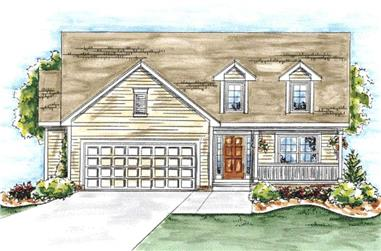 2-Bedroom, 1463 Sq Ft Cape Cod Home Plan - 120-2044 - Main Exterior
