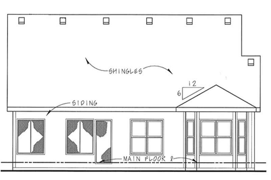 Home Plan Rear Elevation of this 2-Bedroom,1463 Sq Ft Plan -120-2044