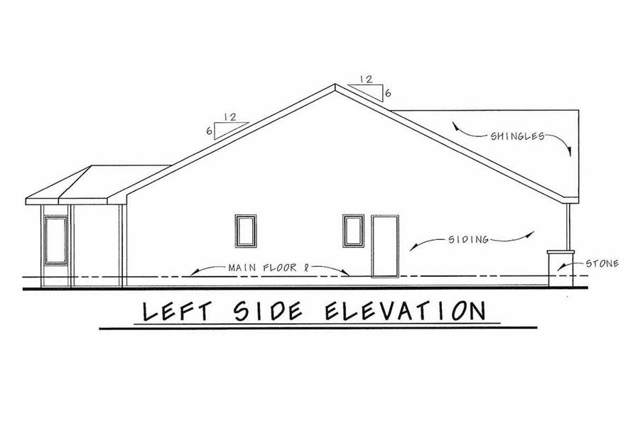 Home Plan Left Elevation of this 2-Bedroom,1692 Sq Ft Plan -120-2046