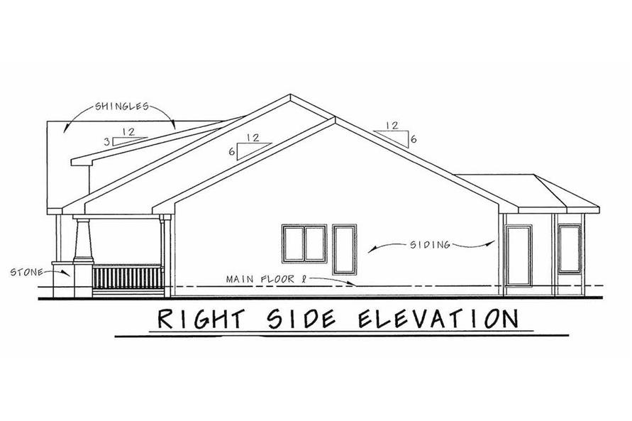 Home Plan Right Elevation of this 2-Bedroom,1692 Sq Ft Plan -120-2046