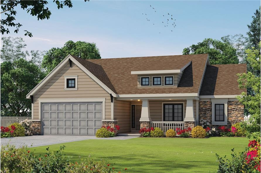 2-Bedroom, 1692 Sq Ft Cape Cod Home Plan - 120-2046 - Main Exterior