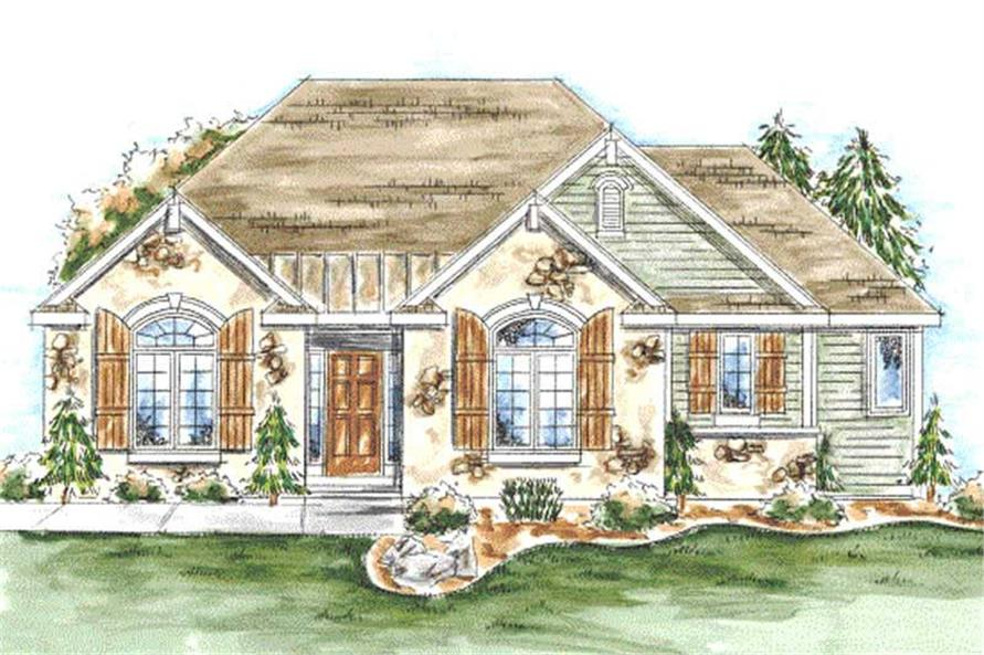 2-Bedroom, 1597 Sq Ft Country Home Plan - 120-2047 - Main Exterior