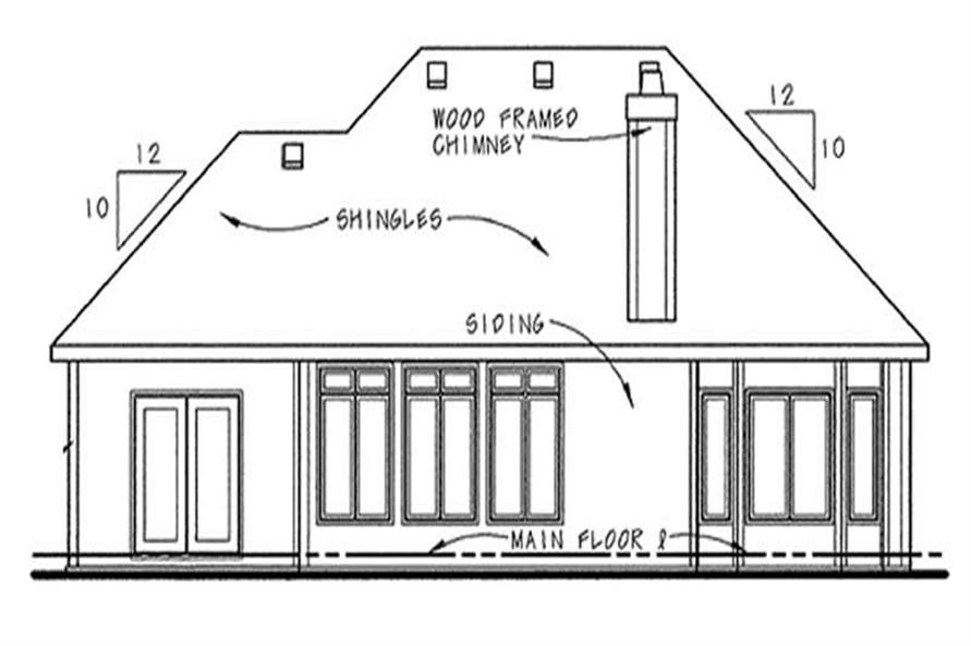 Home Plan Rear Elevation of this 2-Bedroom,1597 Sq Ft Plan -120-2047