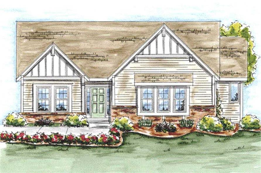 2-Bedroom, 1597 Sq Ft Craftsman Home Plan - 120-2048 - Main Exterior