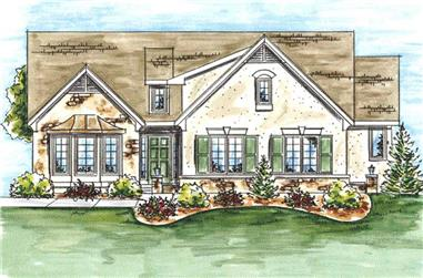 2-Bedroom, 1612 Sq Ft Ranch Home Plan - 120-2049 - Main Exterior