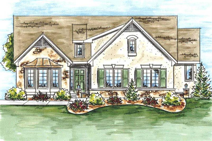 House plan 120 2049 2 bedroom 1612 sq ft ranch for French country ranch home plans