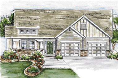 3-Bedroom, 1905 Sq Ft Cape Cod Home Plan - 120-2050 - Main Exterior