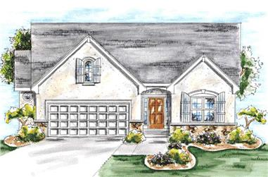 2-Bedroom, 1463 Sq Ft Ranch Home Plan - 120-2051 - Main Exterior