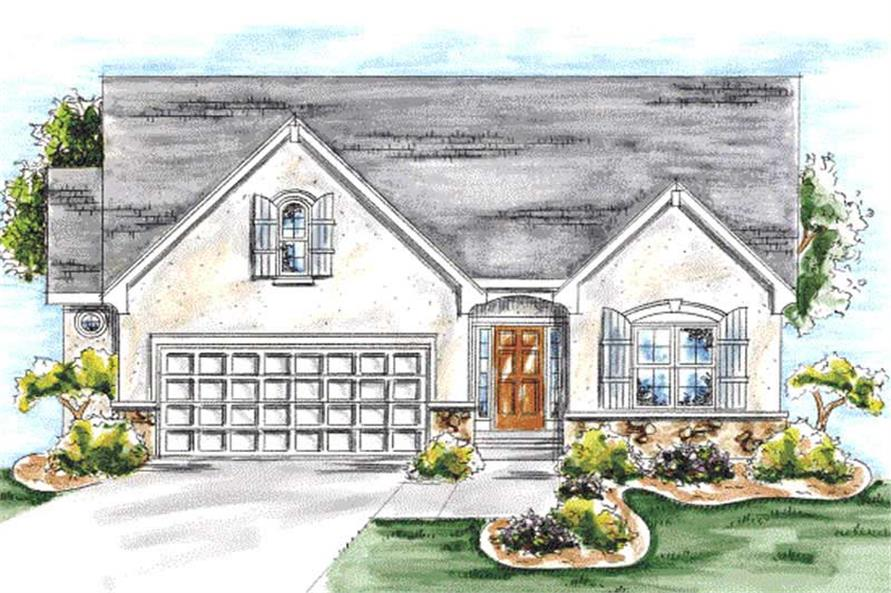 2-Bedroom, 1463 Sq Ft Ranch Home Plan - 120-2051 - Main Exterior