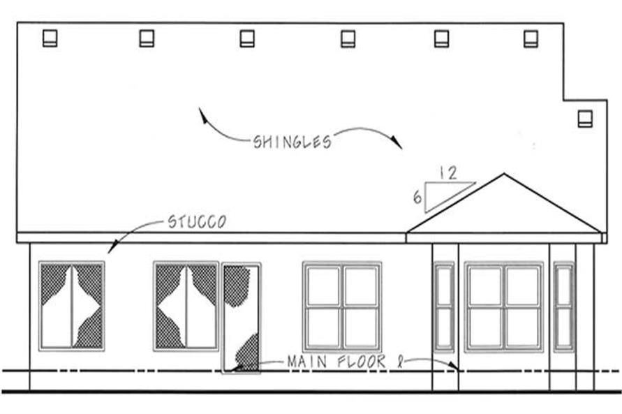 Home Plan Rear Elevation of this 2-Bedroom,1463 Sq Ft Plan -120-2051
