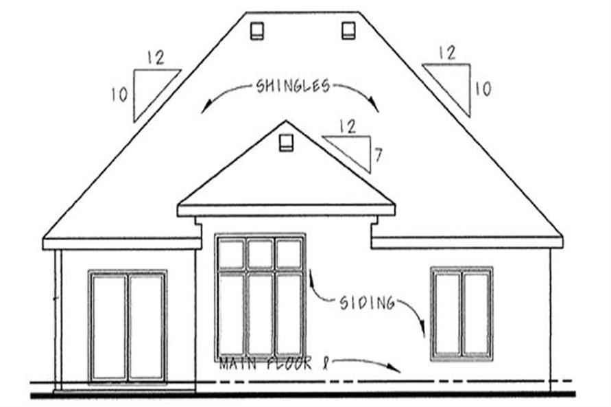 Home Plan Rear Elevation of this 2-Bedroom,1550 Sq Ft Plan -120-2052