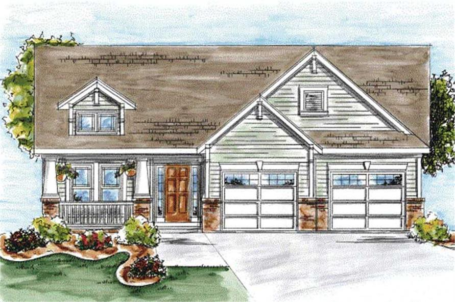 2-Bedroom, 1802 Sq Ft Cape Cod House Plan - 120-2053 - Front Exterior
