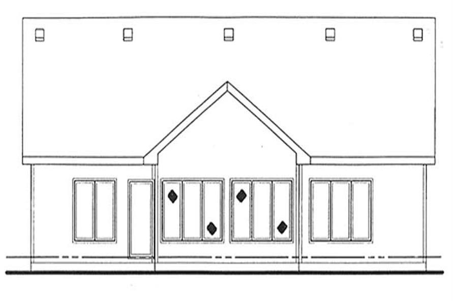 Home Plan Rear Elevation of this 2-Bedroom,1802 Sq Ft Plan -120-2053
