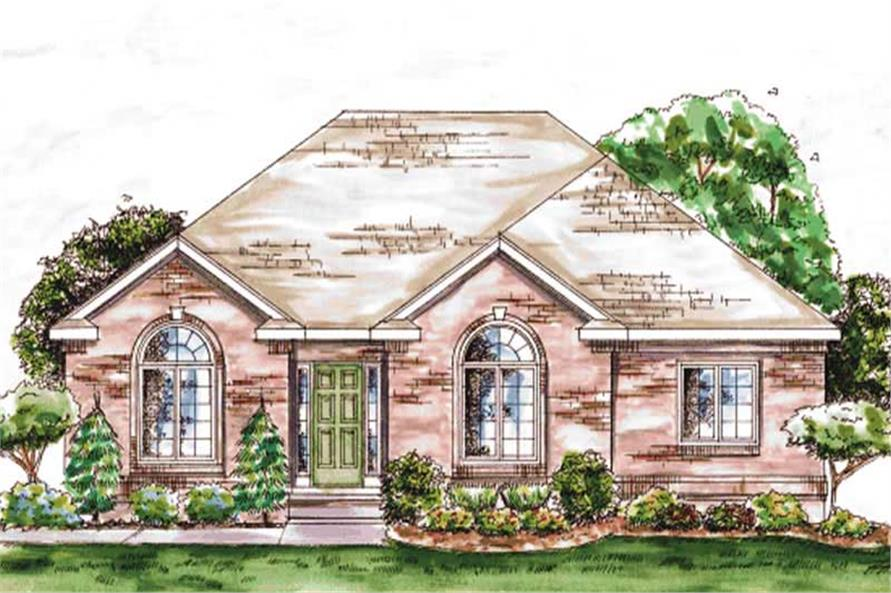 2-Bedroom, 1802 Sq Ft Ranch House Plan - 120-2057 - Front Exterior
