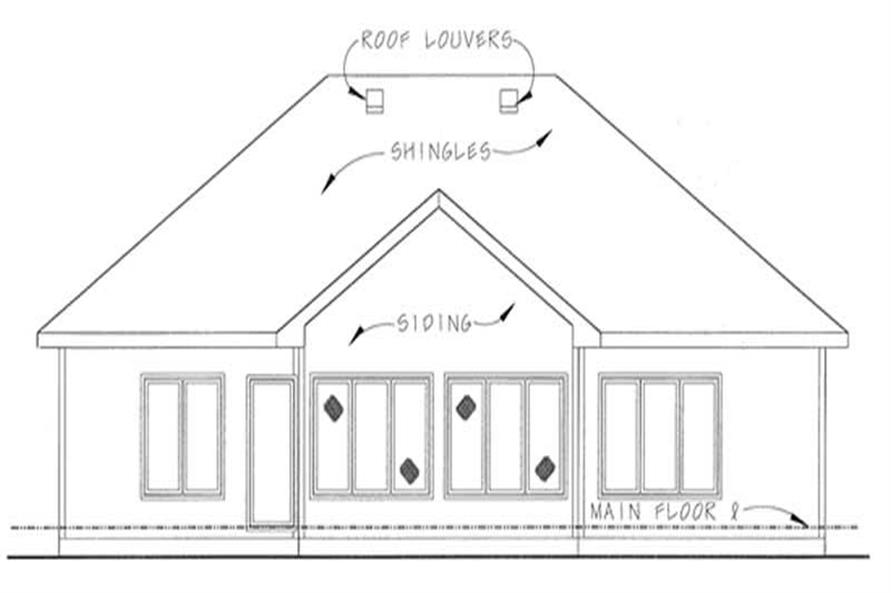 Home Plan Rear Elevation of this 2-Bedroom,1802 Sq Ft Plan -120-2057