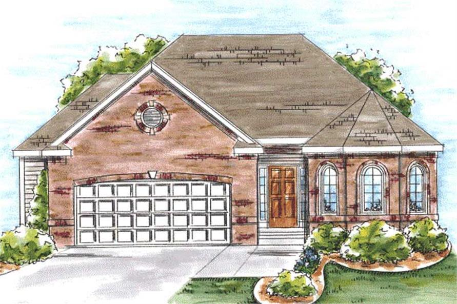 2-Bedroom, 1492 Sq Ft Ranch Home Plan - 120-2059 - Main Exterior