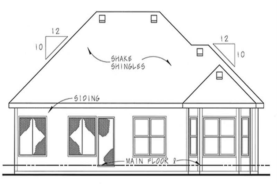 Home Plan Rear Elevation of this 2-Bedroom,1492 Sq Ft Plan -120-2059