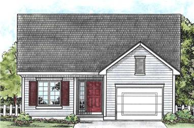 2-Bedroom, 1091 Sq Ft Ranch House Plan - 120-2069 - Front Exterior