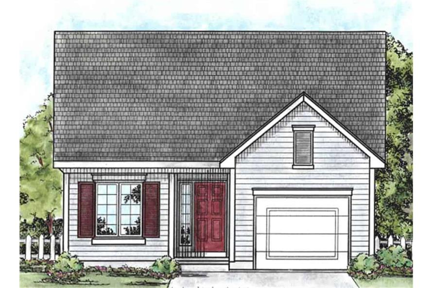 Front View of this 2-Bedroom,1091 Sq Ft Plan -120-2069