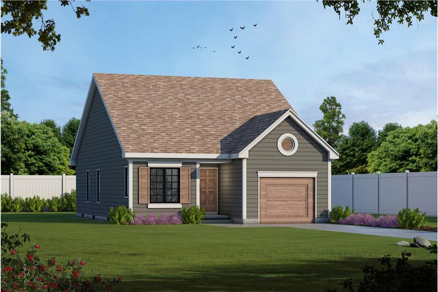 2-Bedroom, 1091 Sq Ft Ranch House - Plan #120-2069 - Front Exterior