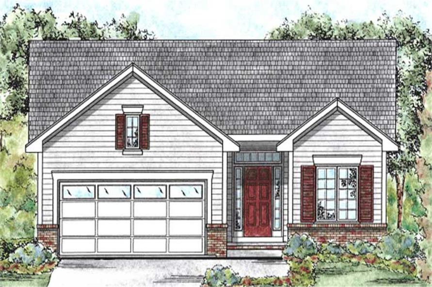 2-Bedroom, 1209 Sq Ft Ranch House Plan - 120-2070 - Front Exterior
