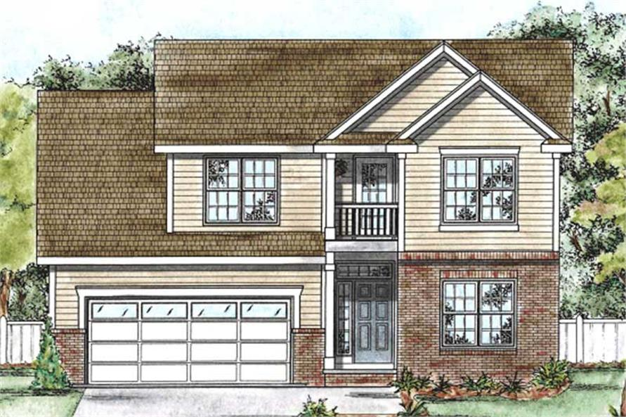 4-Bedroom, 2390 Sq Ft Traditional House Plan - 120-2071 - Front Exterior
