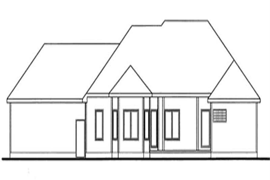 Home Plan Rear Elevation of this 3-Bedroom,2641 Sq Ft Plan -120-2077