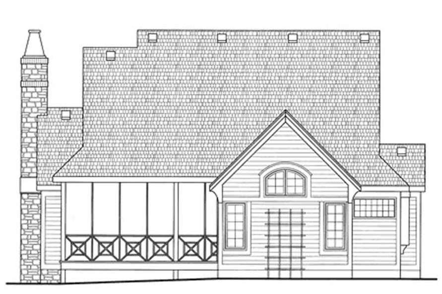 Home Plan Rear Elevation of this 3-Bedroom,1991 Sq Ft Plan -120-2078