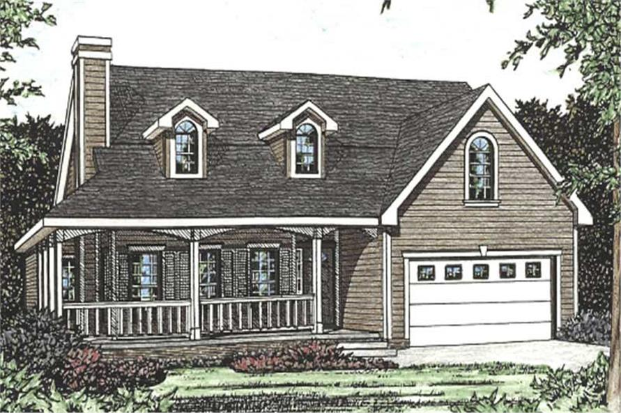 3-Bedroom, 1705 Sq Ft Cape Cod House Plan - 120-2079 - Front Exterior