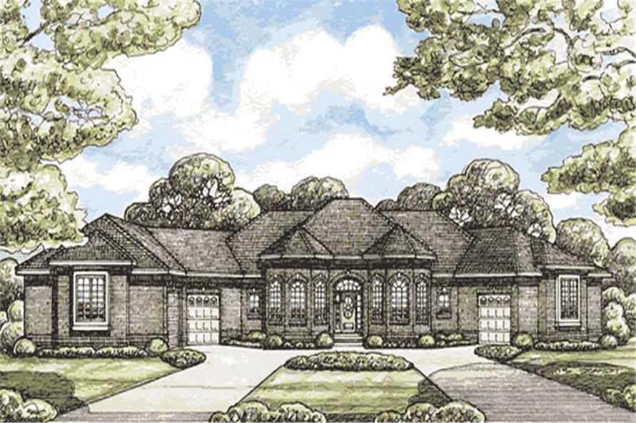 4-Bedroom, 2956 Sq Ft Ranch Home Plan - 120-2081 - Main Exterior