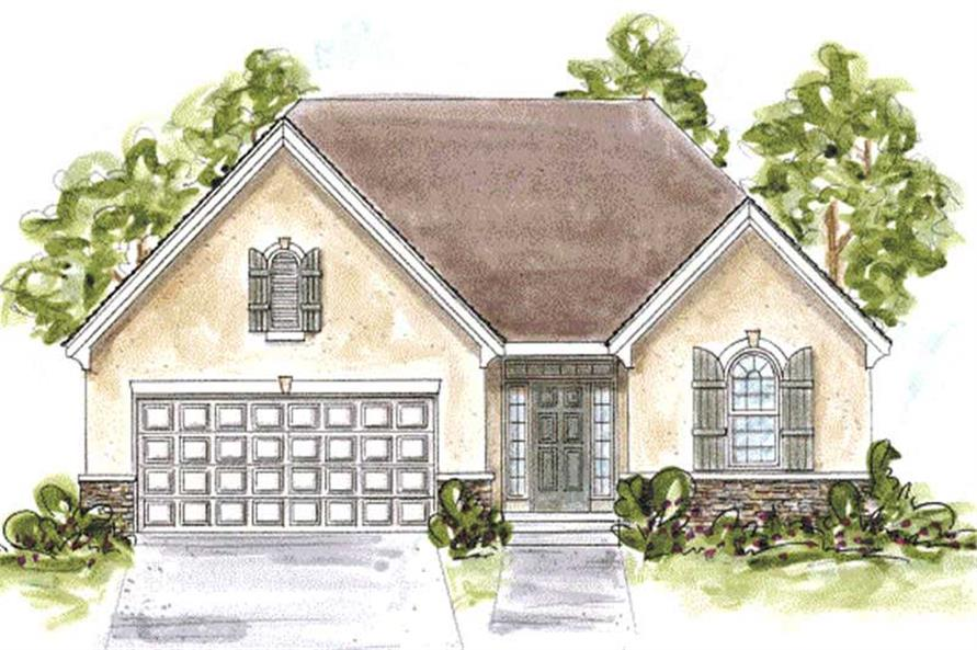 2-Bedroom, 1490 Sq Ft Country House Plan - 120-2082 - Front Exterior