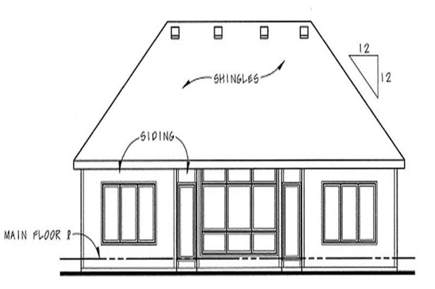 Home Plan Rear Elevation of this 2-Bedroom,1490 Sq Ft Plan -120-2082