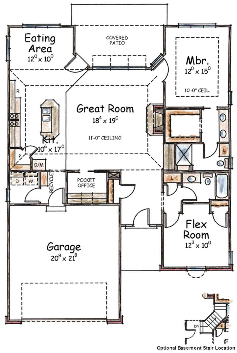 House Plan 120 2082 2 Bedroom 1490 Sq Ft Country