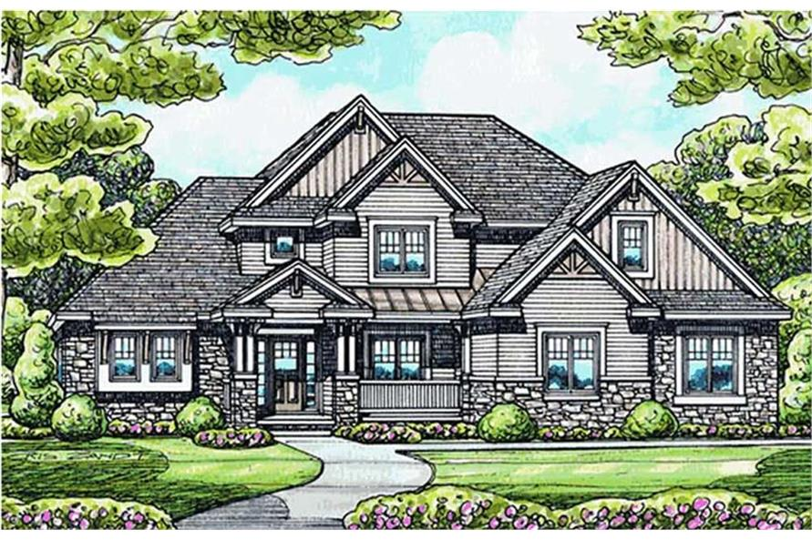 Home Plan Rendering of this 3-Bedroom,2476 Sq Ft Plan -2476