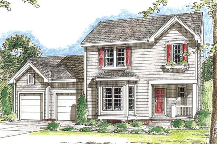 3-Bedroom, 1372 Sq Ft Country Home Plan - 120-2090 - Main Exterior