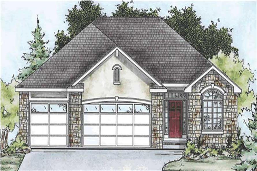 3-Bedroom, 1642 Sq Ft Country Home Plan - 120-2091 - Main Exterior