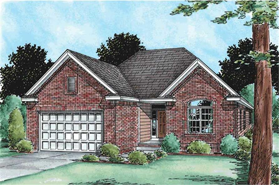2-Bedroom, 1592 Sq Ft Small House Plans - 120-2096 - Main Exterior