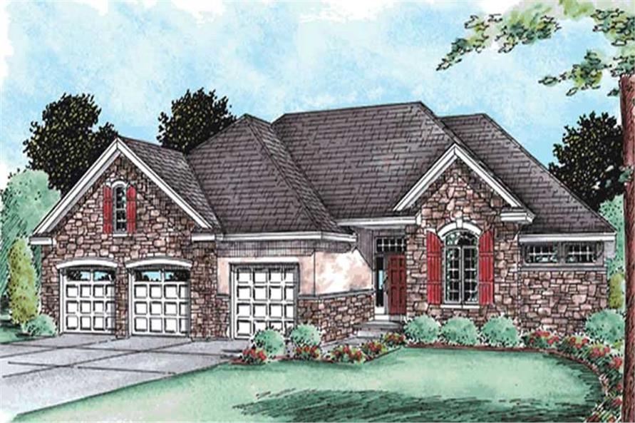 3-Bedroom, 2081 Sq Ft Ranch House Plan - 120-2098 - Front Exterior