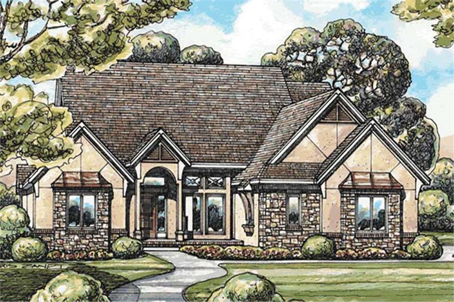 2-Bedroom, 2390 Sq Ft Country House Plan - 120-2101 - Front Exterior
