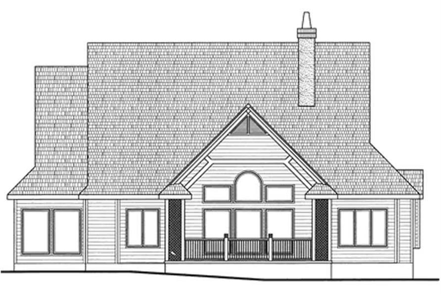Home Plan Rear Elevation of this 2-Bedroom,2390 Sq Ft Plan -120-2101