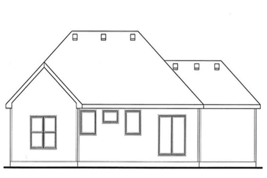 Home Plan Rear Elevation of this 3-Bedroom,1755 Sq Ft Plan -120-2103