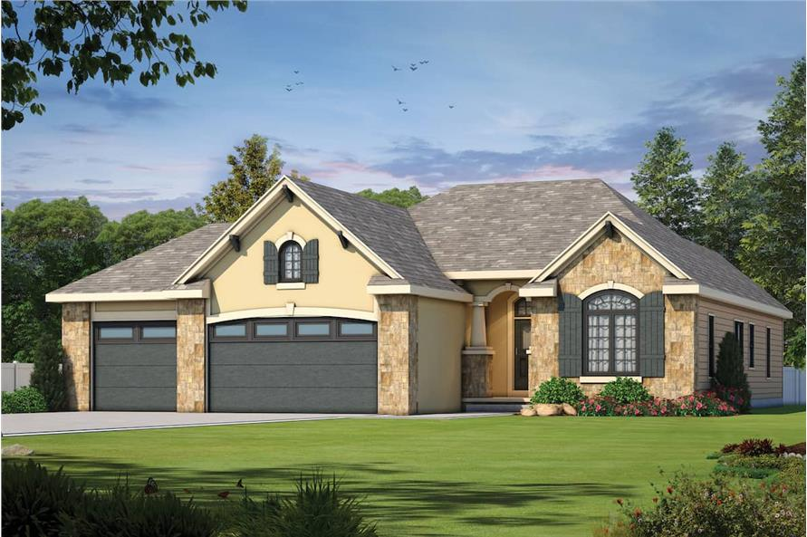 Front View of this 3-Bedroom,1755 Sq Ft Plan -120-2103
