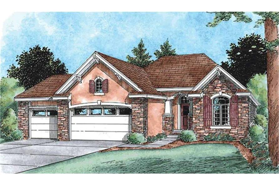 Home Plan Rendering of this 3-Bedroom,1755 Sq Ft Plan -120-2103