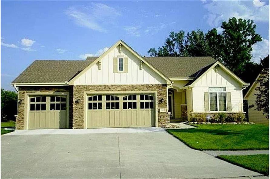 3-Bedroom, 1755 Sq Ft Small House - Plan #120-2103 - Front Exterior