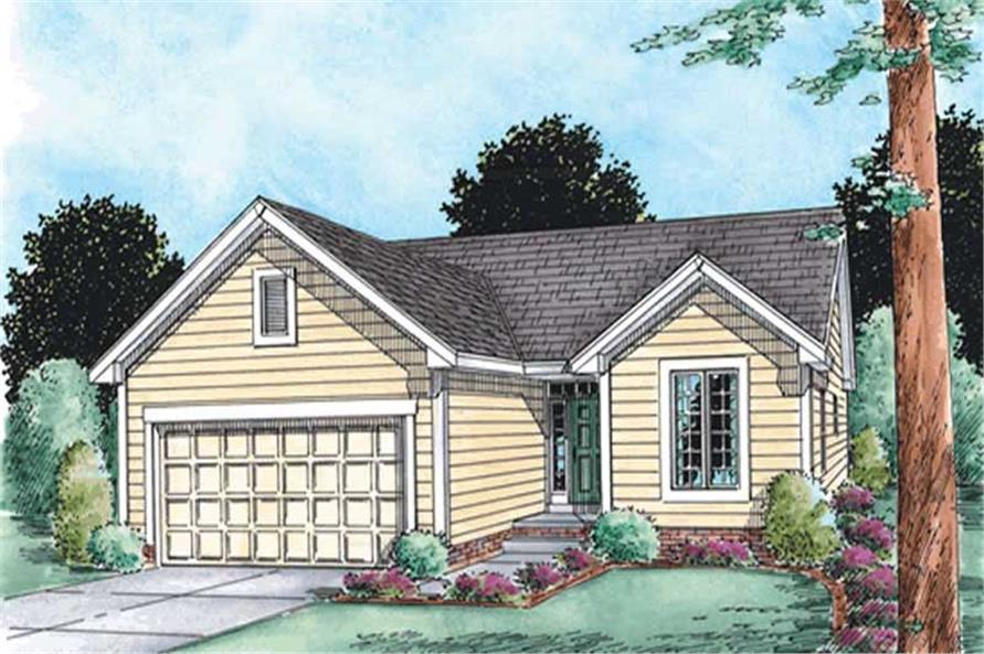 2-Bedroom, 1268 Sq Ft Ranch Home Plan - 120-2104 - Main Exterior