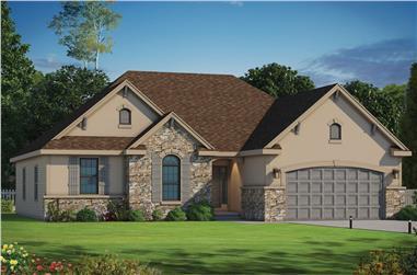3-Bedroom, 1719 Sq Ft Ranch Home Plan - 120-2105 - Main Exterior